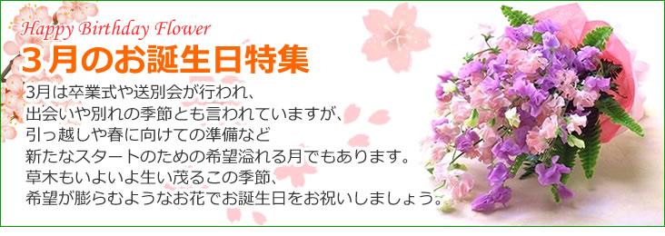 3月のお誕生日のお花
