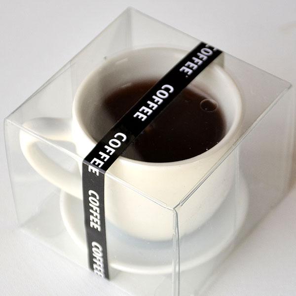 好物 ろうそく キャンドル ホットコーヒー 珈琲 カップ 進物 御供 御仏前 ミニチュア ローソク