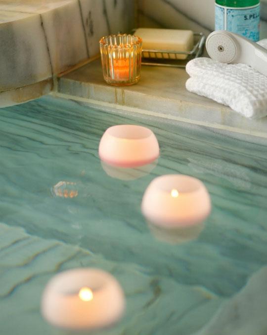 お風呂でリラクゼーション「ぷかぷかバスキャンドル」