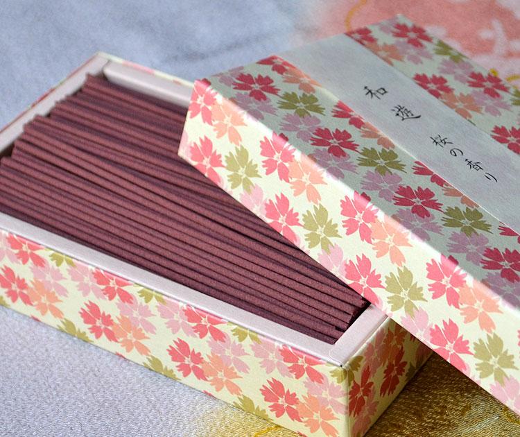 「和遊」平箱 お線香バラ詰 桜の香り