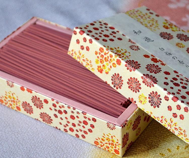 「和遊」平箱 お線香バラ詰 白梅の香り