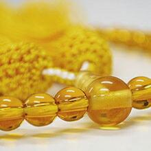 女性用略式念珠 玻璃 トパーズ