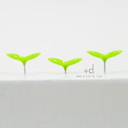 アッシュコンセプト +d Green Pin (押しピン)【h concept ステーショナリー デスクアクセサリー プッシュピン ピン】