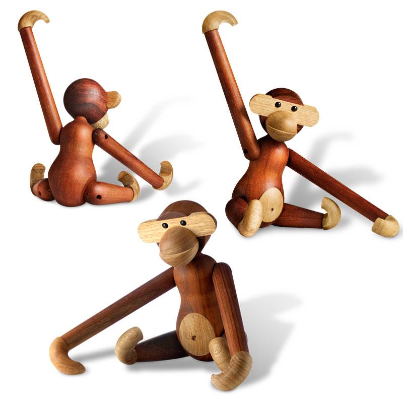カイボイスンデンマーク モンキー ミディアム オブジェ Kay Bojesen Denmark MONKEY SMALL 北欧 カイ・ボイスン 猿 さる サル M Mサイズ 置き物 木製 木 ハンドメイド オブジェ MONKEY カイ ボイスン デンマーク