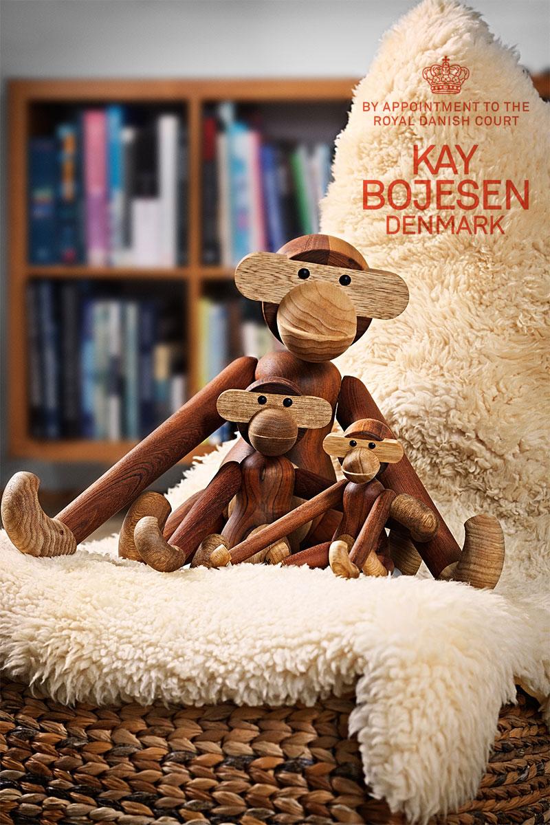 カイボイスンデンマーク モンキー ミディアム オブジェ Kay Bojesen Denmark MONKEY MEDIUM 北欧 カイ・ボイスン 猿 さる サル M Mサイズ 置き物 木製 木 ハンドメイド オブジェ MONKEY カイ ボイスン デンマーク