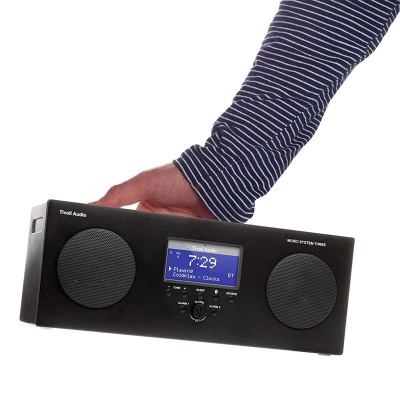 チボリオーディオ テーブルラジオ ミュージックシステム スリー ブラック Tivoli Audio Music System Three Bluetooth対応 ブルートゥース
