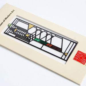 FLW 프랭크・로이드・라이트 로비 윈도우 서표【MoMA 모마로비하우스로비저프랭크 로이드 라이트 북마크간】