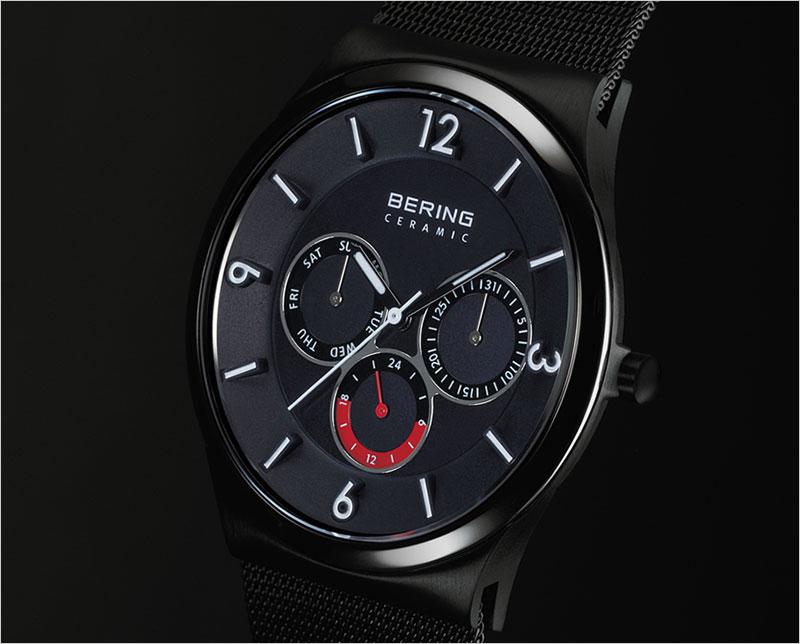 ベーリング Mens Sapphire Glass Ceramic 33440-227 ブラック 腕時計 メンズ BERING 男性 デザイナーズウォッチ 服飾雑貨 リストウォッチ 時計