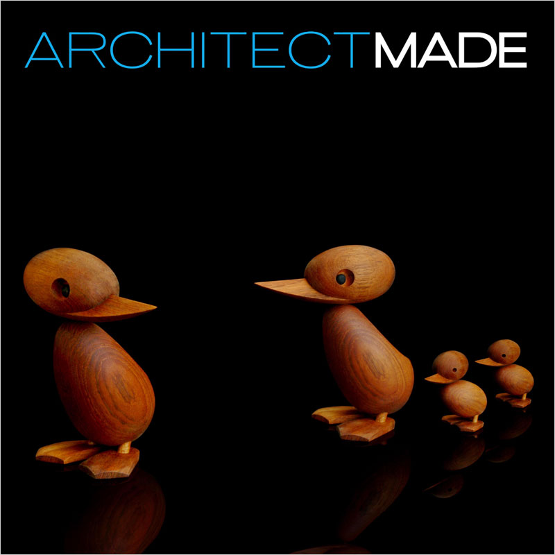 Architect MADE (アーキテクトメイド) Duck Large 【ダックラージ アヒル 木 おもちゃ オブジェ 置き物 コペンハーゲン ヨーロッパ 北欧 デザイン】