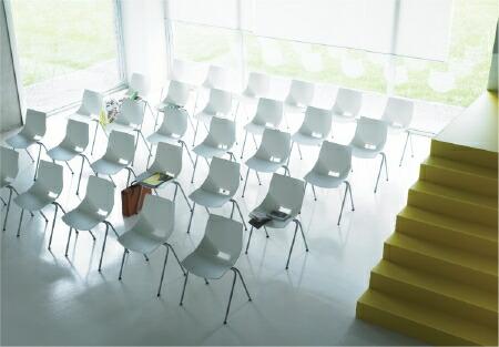 AREA declic コスカ チェア koska 4脚セット デクリック スタッキングチェア デザイナーズファーニチャー 椅子 家具 イタリア製 モダン ミッドセンチュリー