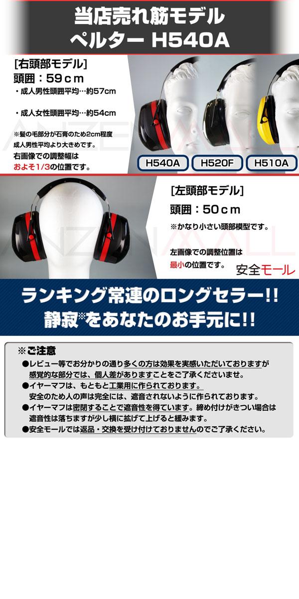 1商品画像イヤーマフH540Aの仕様について