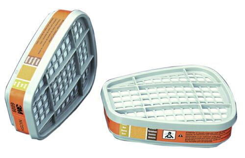 【3M/スリーエム】 水銀蒸気用吸収缶 6009(6000用) (2個/1組) 【ガスマスク・作業用】
