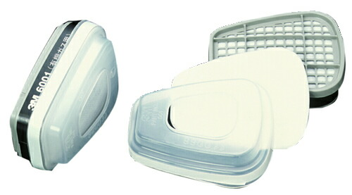 【3M/スリーエム】 有機ガス用吸収缶 吸収缶 6001/5911-S1(6000用) (2個/1組) 【ガスマスク・作業用】
