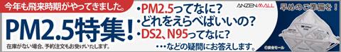 PM2.5特集!PM2.5対応マスクのご紹介。DS2、N95ってなに?あなたの疑問にお答えします。