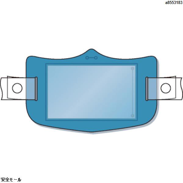 商品画像a8553183つくし e帽章 透明ポケット付き 青 ヘルメット用樹脂バンド付 WE125H 1枚