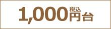 1,000円(税込)台