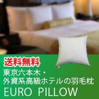 東京六本木・外資系高級ホテルの羽毛枕・ユーロピロー(クッション)