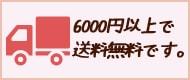 6000円で送料無料