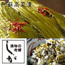 阿蘇高菜漬、たかな漬け、志賀食品