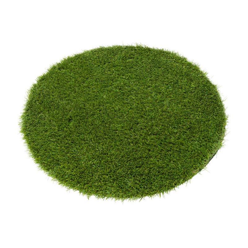 アウトドアラグ φ90cm グリーン