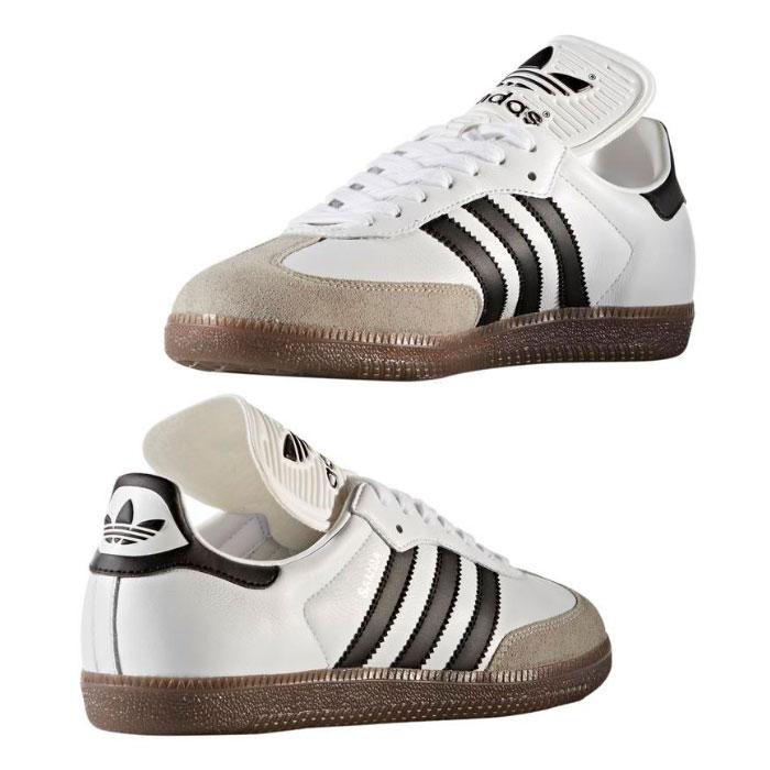 アディダス オリジナルス サンバ クラシック OG スニーカー メンズ レディース シューズ 靴 ローカット レザー ホワイト 白 ブラック 黒 adidas Originals SAMBA Classic OG BZ0225 送料無料