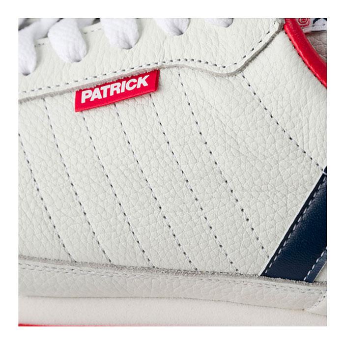 パトリック マラソン レザー スニーカー メンズ レディース シューズ 日本製 ホワイト トリコロール 白 男性 女性 PATRICK MARATHON-L 98800 送料無料