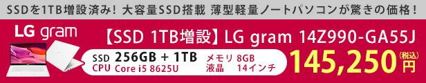 LGgramSSD1TB増設特価モデル
