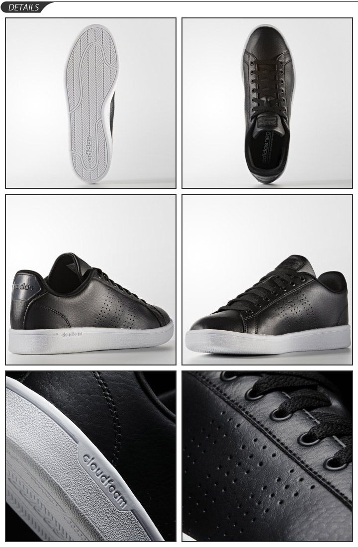 Adidas adidas NEO Lady's men sneakers coat type cloud form bulk Lean leather nature leather CLOUDFOAM VALCLEAN low frequency cut casual shoes shoes