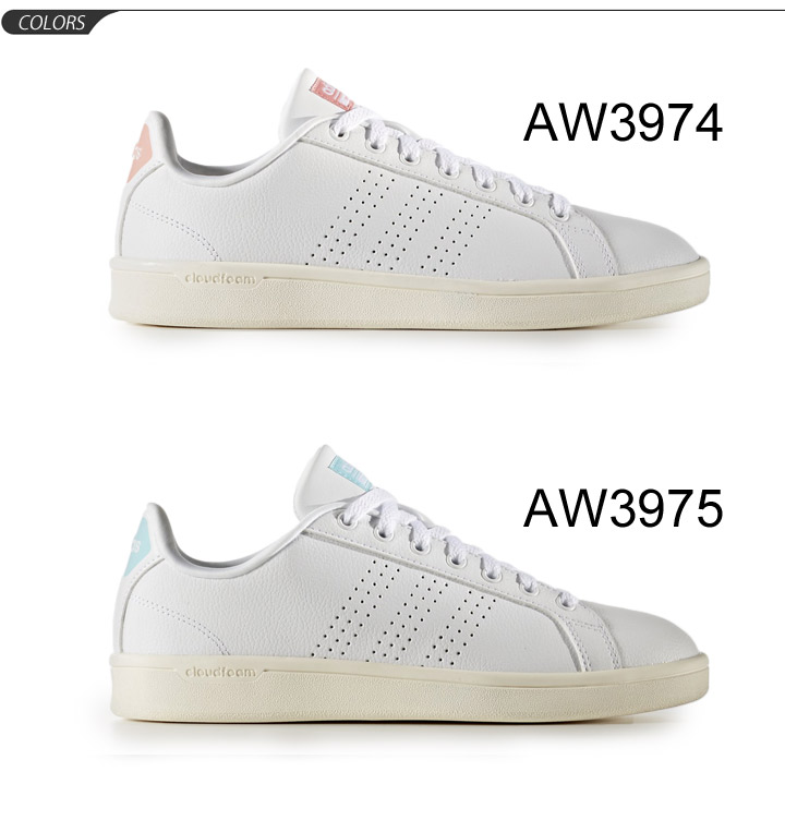Adidas adidas NEO Lady's sneakers coat type cloud form bulk Lean leather leather shoes CLOUDFOAM VALCLEAN woman low frequency cut casual shoes shoes