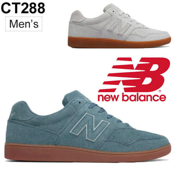 d094dfb1de New Balance men sneakers newbalance limited model ooze leather shoes shoes  man casual shoes low-frequency cut BG blue WG white /CT288