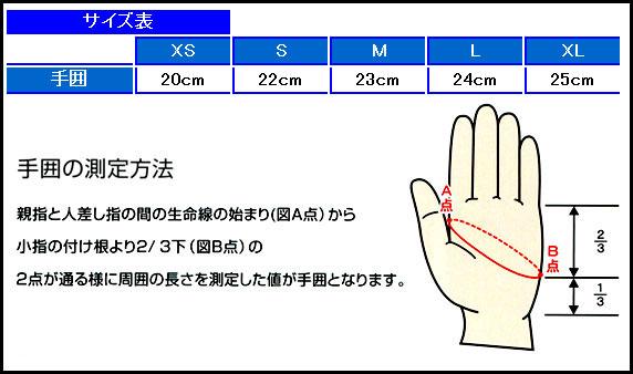 AQUALUNG/アクアラング 3mmサーモグローブ サイズ表