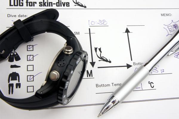 【ダイバーズウォッチ】スキンダイビングを記録