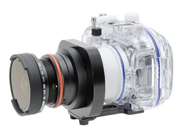 レンズアダプターベースの種類に合った「マウント変換リング」にねじ込んで取り付ける