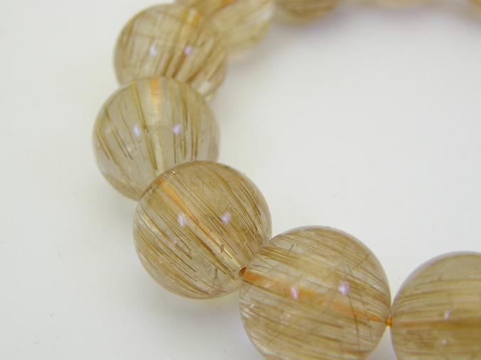 天然石ブレスレット  ルチルクォーツ(針水晶)ブレスレット 3A