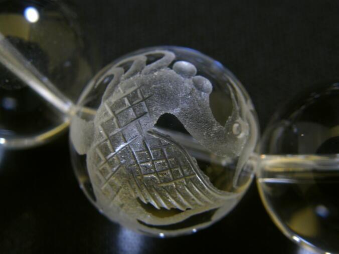 天然石|幸運|パワーストーン|四神獣ブレスレット|水晶(クリスタル)・スモーキークォーツ|20mm大粒ブレス