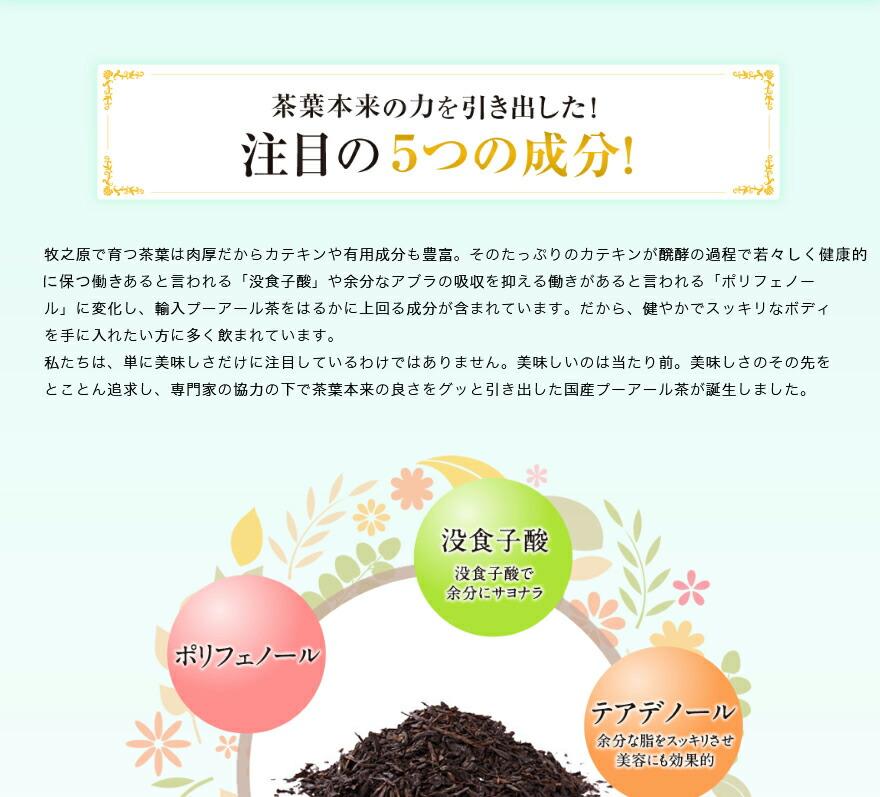国産ダイエットプーアール茶