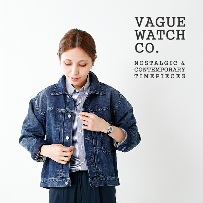 "Vague Watch Co.(ヴァーグウォッチカンパニー)レザーベルトアナログウォッチ""COUSSIN"" co-s"