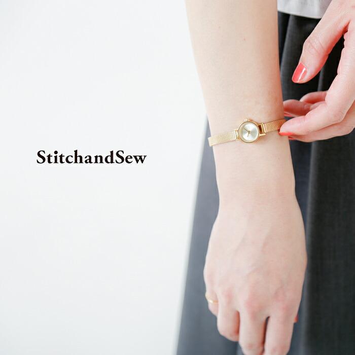 StitchandSew(スティッチアンドソー)ステンレススチールサークルウォッチSc15-6