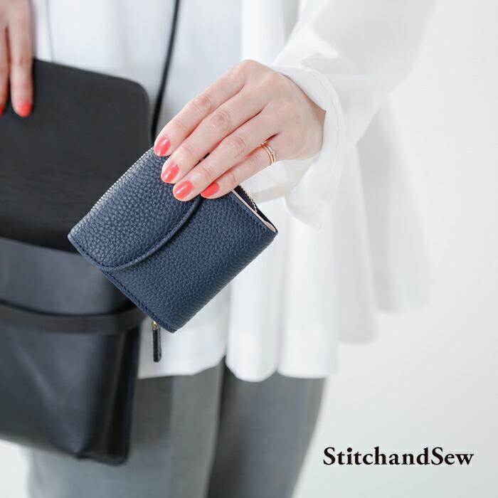 StitchandSew(スティッチアンドソー)レザーショートウォレットcp200-101