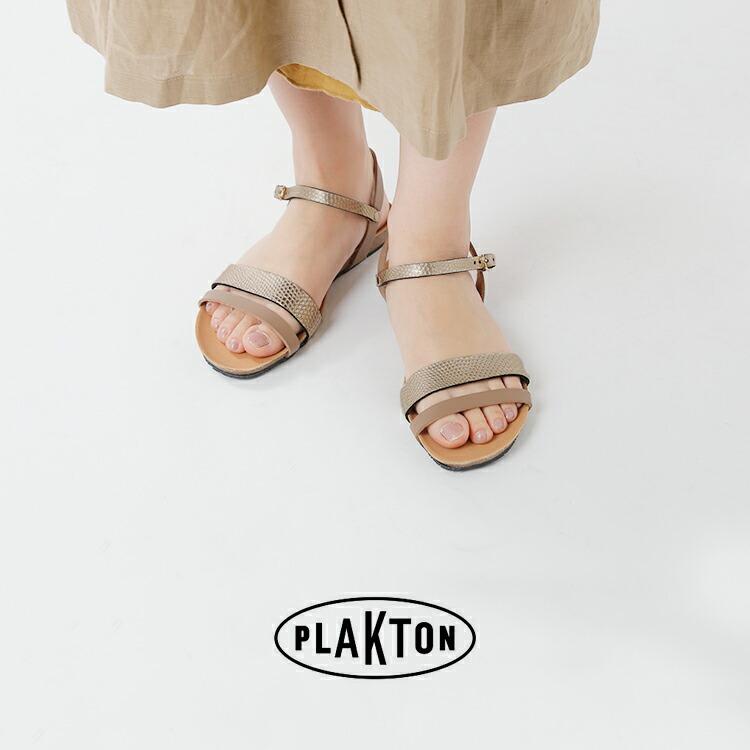 PLAKTON(プラクトン)aranciato別注 レザーアンクルストラップサンダル 575348-19ss