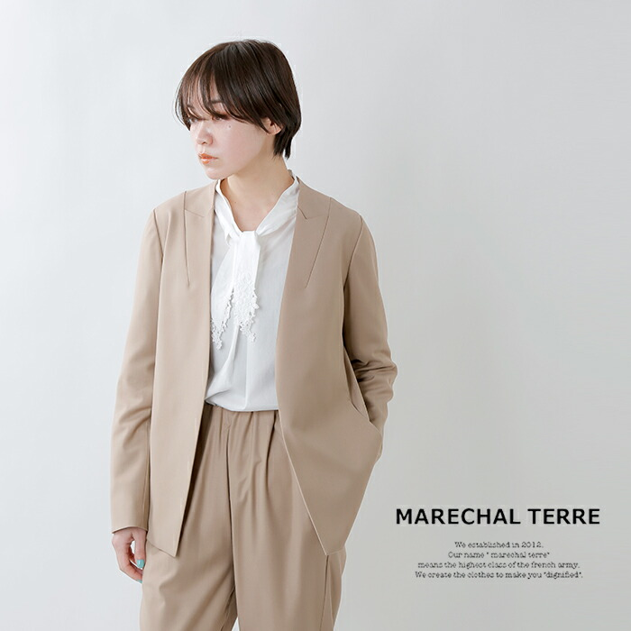 MARECHAL TERRE(マルシャルテル)マイクロT/Rチンツ加工シームテーラードジャケット zmt206jk215