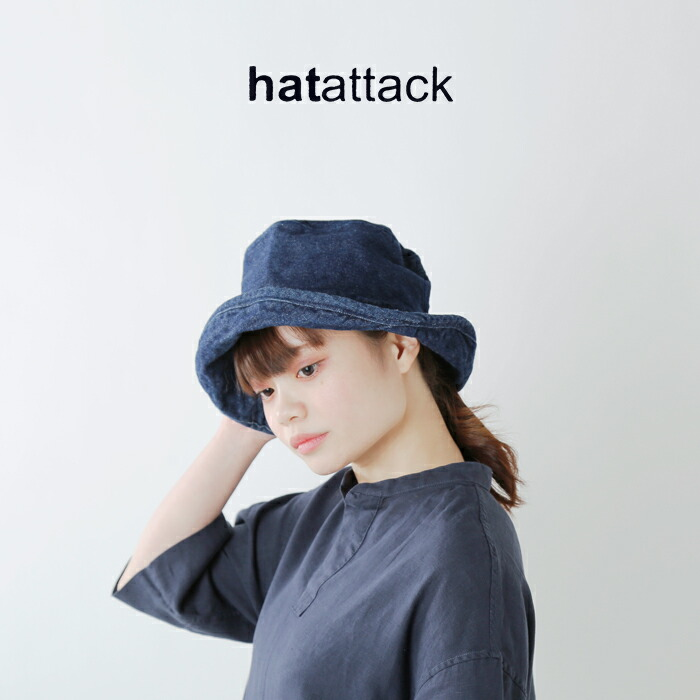 """HAT attack(ハットアタック)コットンハット""""WASHED COTTON CRUSHER HAT"""" 9ha03"""