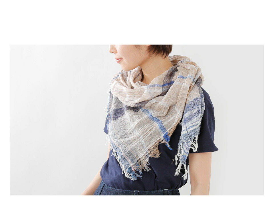 "tamaki niimeコットンショール""roots shawl MIDDLE"" roots-shawl"