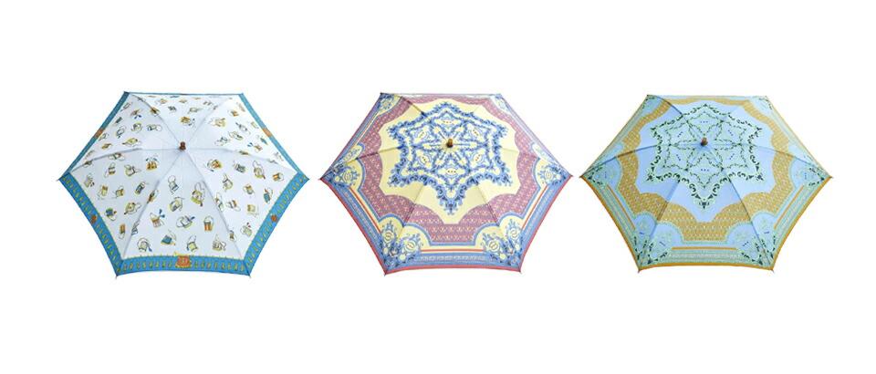 manipuri<br>UV加工晴雨兼用グラフィックプリント折りたたみ傘