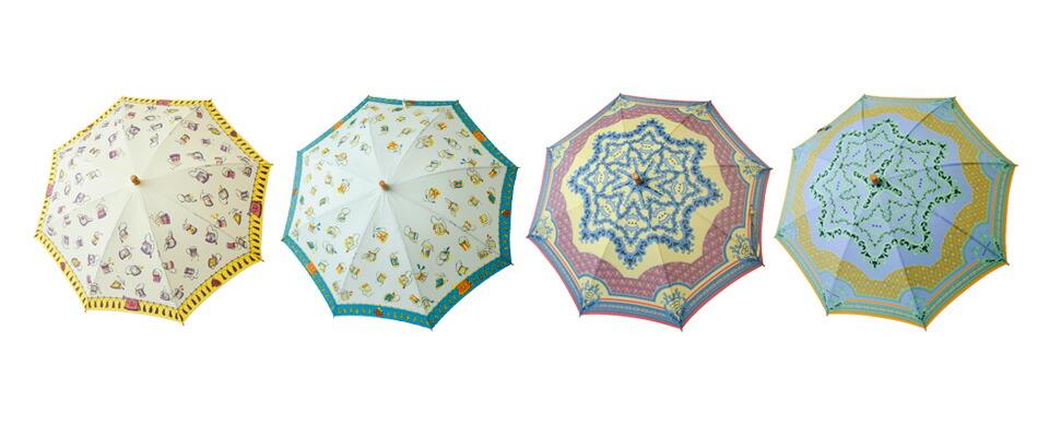 manipuri<br>UV加工晴雨兼用グラフィックプリント長傘