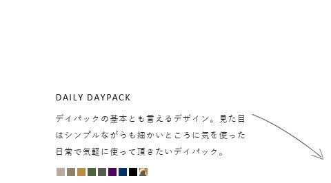 "STANDARD SUPPLY(スタンダードサプライ)<br>デイリーデイパック""SIMPLICITY"""