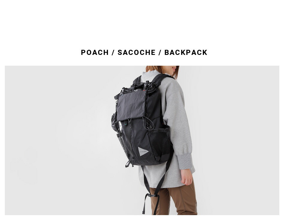 and wander(アンドワンダー)<br>X-Pac 30Lバックパック aw-aa651