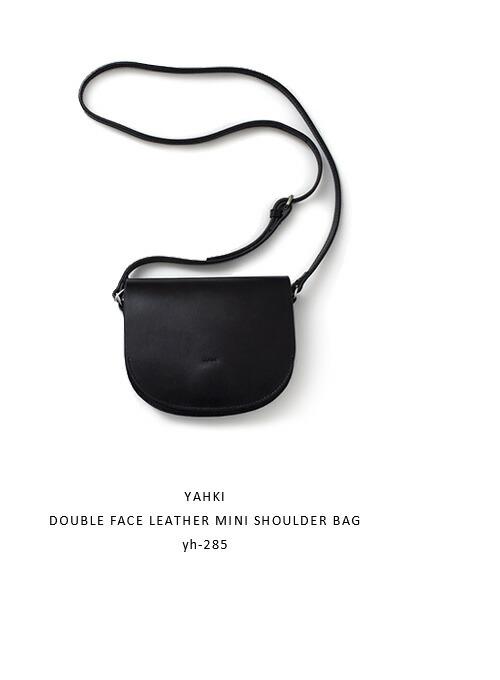 YAHKI(ヤーキ)<br>ダブルフェイスレザーミニショルダーバッグ yh-285