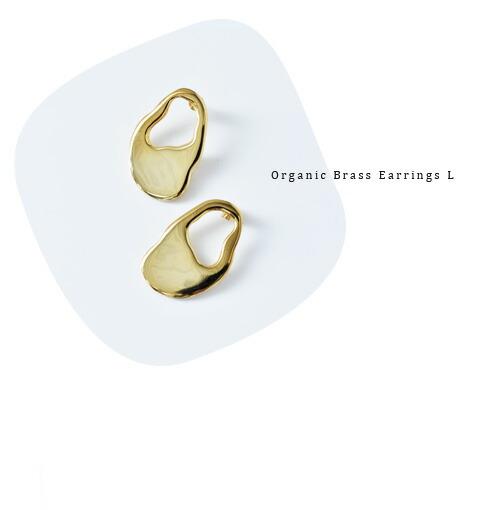 "MERAKI(メラキ)<br>真鍮ピアス""Organic Brass Earrings L"""