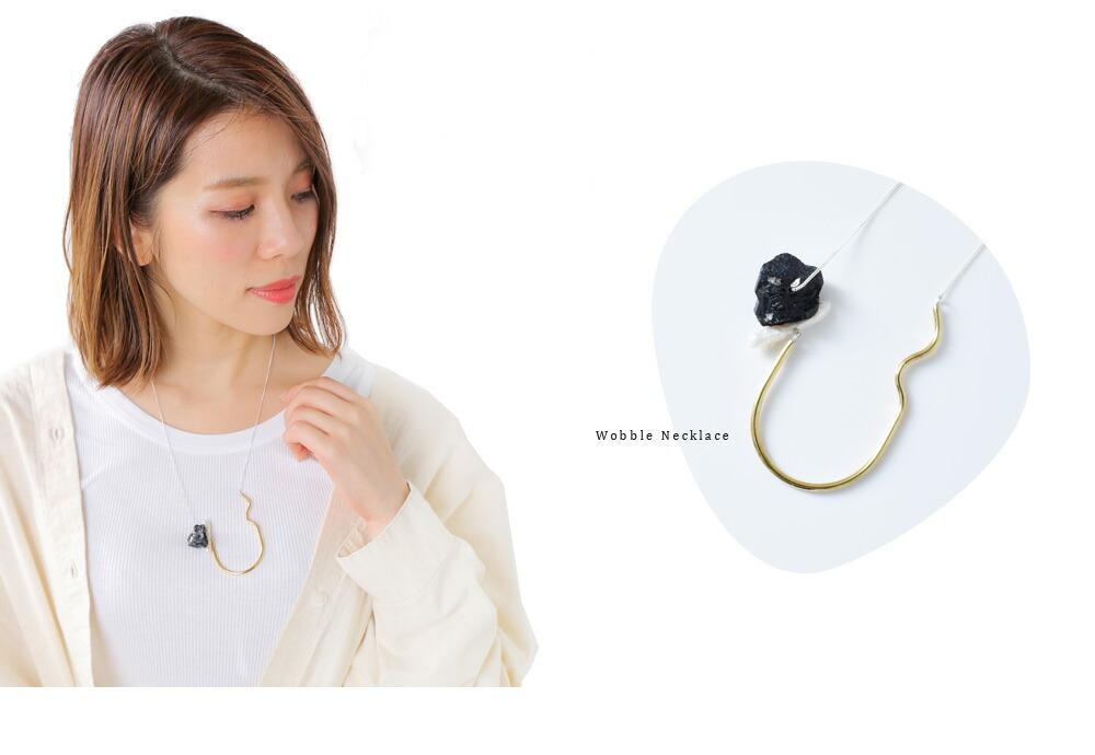 """MERAKI(メラキ)<br>天然石×パールネックレス""""Wobble Necklace"""""""